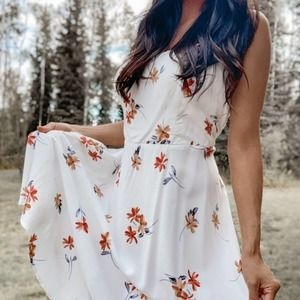 NWT TORRID Women's White Floral Tank Dress Size 1